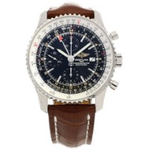 Breitling Navitimer A2432212 - Black Dial - Crocodile Leather...