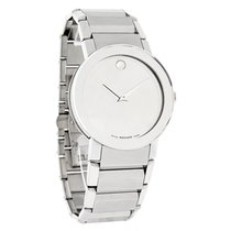 Movado Sapphire Mens XL 38mm Mirror Dial Swiss Quartz Watch...