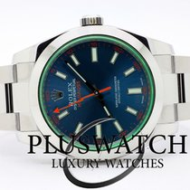 Rolex Milgauss 116400GV BLUE 40mm JUST SERVICED 3486 NO PAPERS