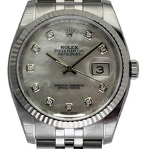 Rolex : Datejust 36mm :  116234 :   Steel : white mother of...