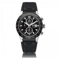 豪雅 (TAG Heuer) Carrera Automatic Stainless Steel Black Dial...