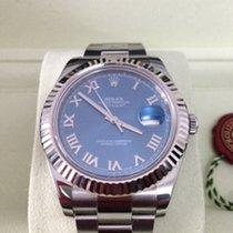 Rolex Datejust II 41 mm 116334 Blau Römisch ZB/Oysterband