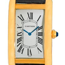 "Cartier ""Tank Americaine"" Mechanical Strapwatch."