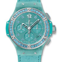 Hublot : 41mm Big Bang Turquoise Linen Watch