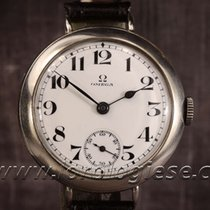 Omega Original Vintage 1915 Sterling Silver Trench Watch