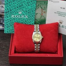 Rolex Oyster Perpetual 76193 18K Gold & Steel Diamond Dial