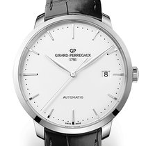 Girard Perregaux 1966 44 MM Steel Dial White Strap Black...