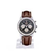 Breitling Navitimer 01 43 Arabic Numeral Dial Brown Crocodile...