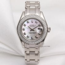 Rolex Lady DateJust PearlMaster 80339 18k White Gold MOP...