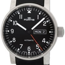 Fortis Spacematic Pilot Professional Steel Mens Silicon Watch...