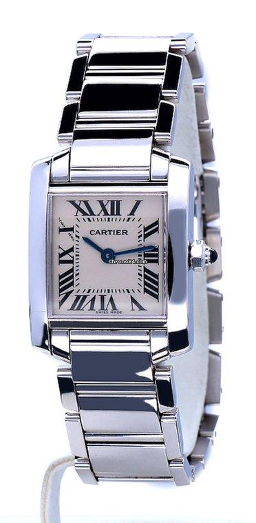 Cartier Tank Française White Gold Roman Dial 18 krt za Kč 156 012 k prodeji  od Trusted Seller na Chrono24 40f1453bd0