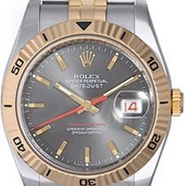 Rolex Men's Rolex Turnograph Watch Steel & Gold 116263