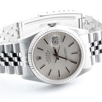 Rolex Mens 16234 Datejust - Silver Tapestry Dial - Jubilee Band
