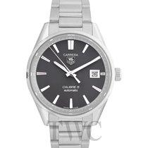TAG Heuer Carrera Calibre 5 Automatic Watch Dark Grey Steel