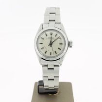 Rolex Oyster Perpetual (BOX1995) 25MM Steel Silver Dial