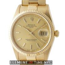 ロレックス (Rolex) Oyster Perpetual Date 18k Yellow Gold 34mm...