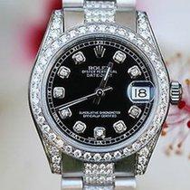 ロレックス (Rolex) Ladies 31 Midsize Steel 18k White Gold 178240...