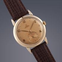 Omega 14ct gold 'bumper' automatic watch 70th Birthday
