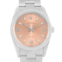 Rolex Oyster Perpetual Air King Salmon Dial Steel Watch 14000