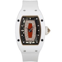 Richard Mille White ATZ Ceramic Red Gold Diamond Skeletonised...