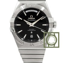 Omega Constellation Day-Date 38mm Steel Black Dial NEW