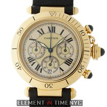 Cartier Pasha Collection Chronograph 18k Yellow Gold 38mm...
