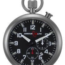 ArmourLite Alarm Clock Pocket Watch With Stand - Black Dial -...