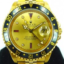 Rolex GMT-Master 2 Yellow Gold with Serti Ruby and Diamond Dial