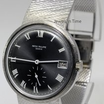 Patek Philippe Mens 18k White Gold Vintage Automatic Bracelet...