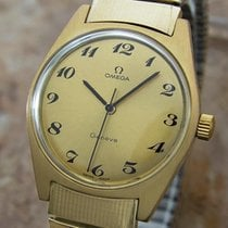 Omega Geneve Swiss Made Manual Cal 601 Mens Gold Plated 1970s...