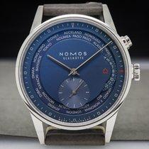 """ノモス (Nomos) 1856 Zurich """"Weltzeit"""" Blue World Timer SS..."""