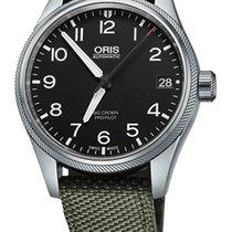 Oris Big Crown ProPilot Date, Black Dial, Olive Bracelet