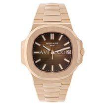 Patek Philippe Nautilus 40mm Men's Rose Gold Chocolate Dial
