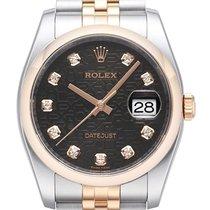 Rolex Datejust 36 Edelstahl Roségold 116201 Schwarz J DIA Jub