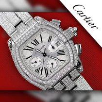 Cartier 23.00 Tcw Diamond Cartier Roadster Xl W62020x6 White...