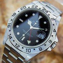 롤렉스 (Rolex) Explorer II 16570 GMT Mens Swiss Made Stainless...