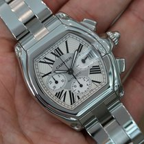 Cartier Roadster Xl Chronograph Stainless Steel Silver Dial...