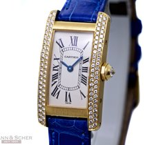 Cartier Tank Americaine Lady Size Diamond Setting Ref-WB701251...