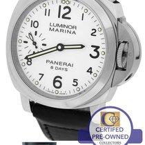 Panerai Luminor Marina 8 Days PAM 563 White 44mm Watch PAM00563