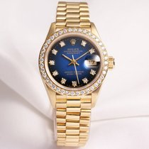 Rolex Lady DateJust 69138 Diamond 18K yellow gold