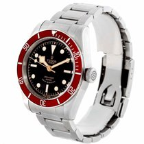 Tudor Heritage Black Bay Automatic Black Dial Red Bzel Watch...