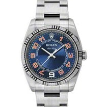 Rolex Used 114234_Blue_Arabic _Concentric Air-King with White...