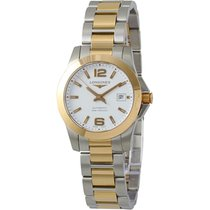 Longines Conquest White Dial Steel Rose Gold Automatic Ladies...