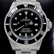 Rolex Sea-dweller 16600 Steel Date Black Dial Men's Diver...