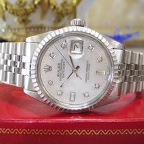 Rolex Oyster Perpetual Datejust Stainless Steel Mother-of-pear...