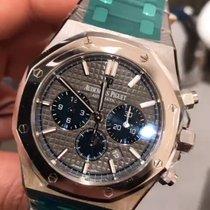 Audemars Piguet Royal Oak Chronograph Chrono Grey Blue Dial...