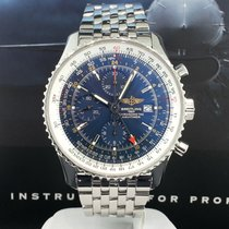 Breitling Navitimer World GMT 46mm Automatic Date Steel Chrono...