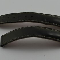Omega Leder Armband 20mm 20-18 Für Faltschliesse Schwarz