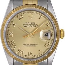 Rolex Datejust Men's 2-Tone Steel & Gold Watch 16233