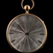 An 18k Rose Gold Open Face Quarter Repeater Pocket Watch